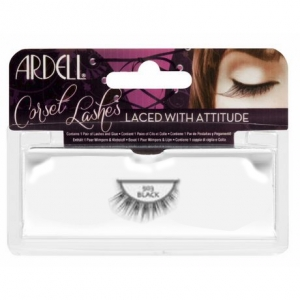 corset lashes - black