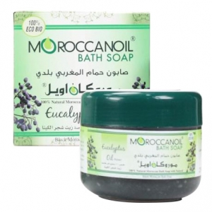 a natural black moroccan soap with eucalyptus oil - 250ml