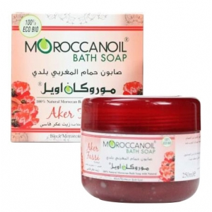 a natural black moroccan soap with aker fassi - 250ml