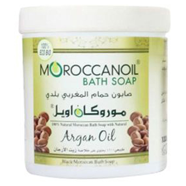 a natural black moroccan soap with argan oil - 1000ml