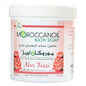 a natural black moroccan soap with aker fassi - 1000ml